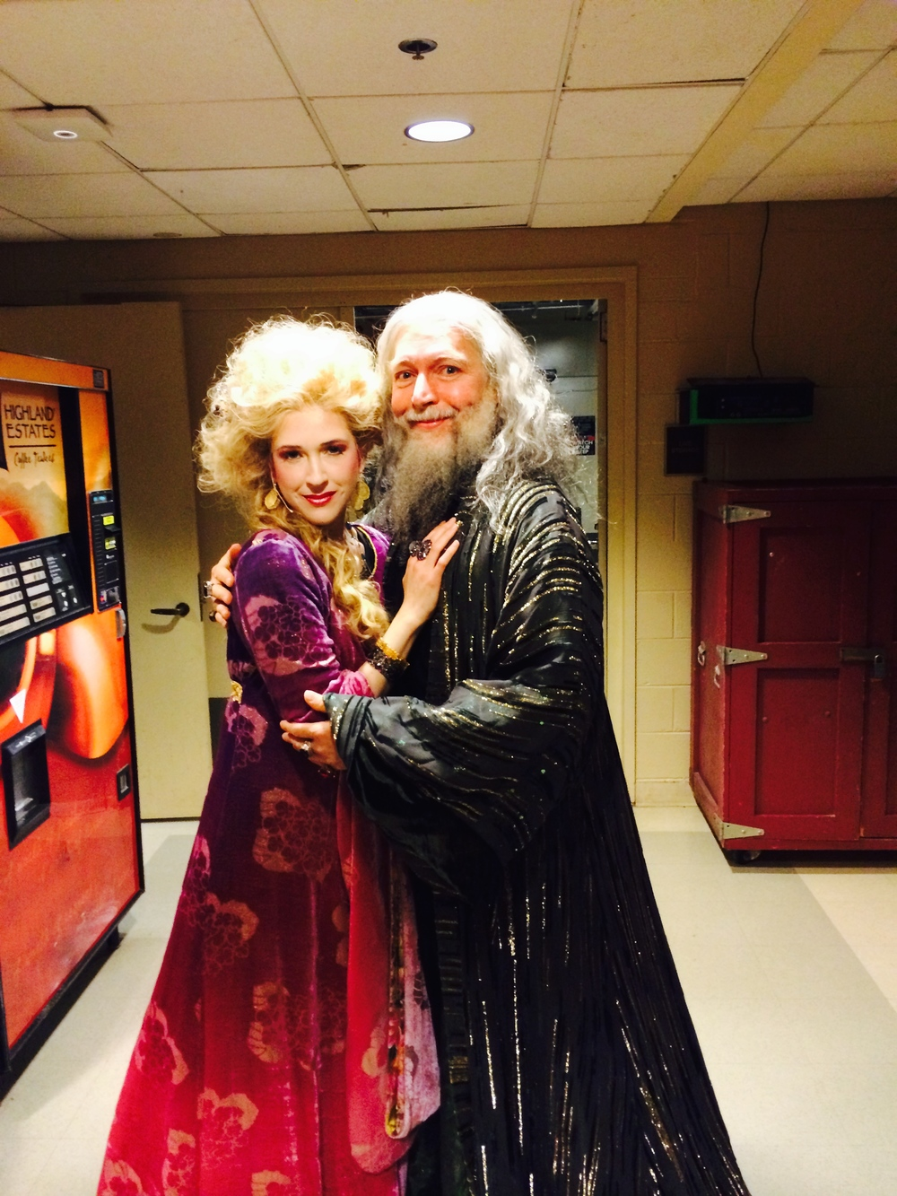 As Nimue, with Tony Sheldon as Merlin, in the Kennedy Center's Camelot Gala Concert