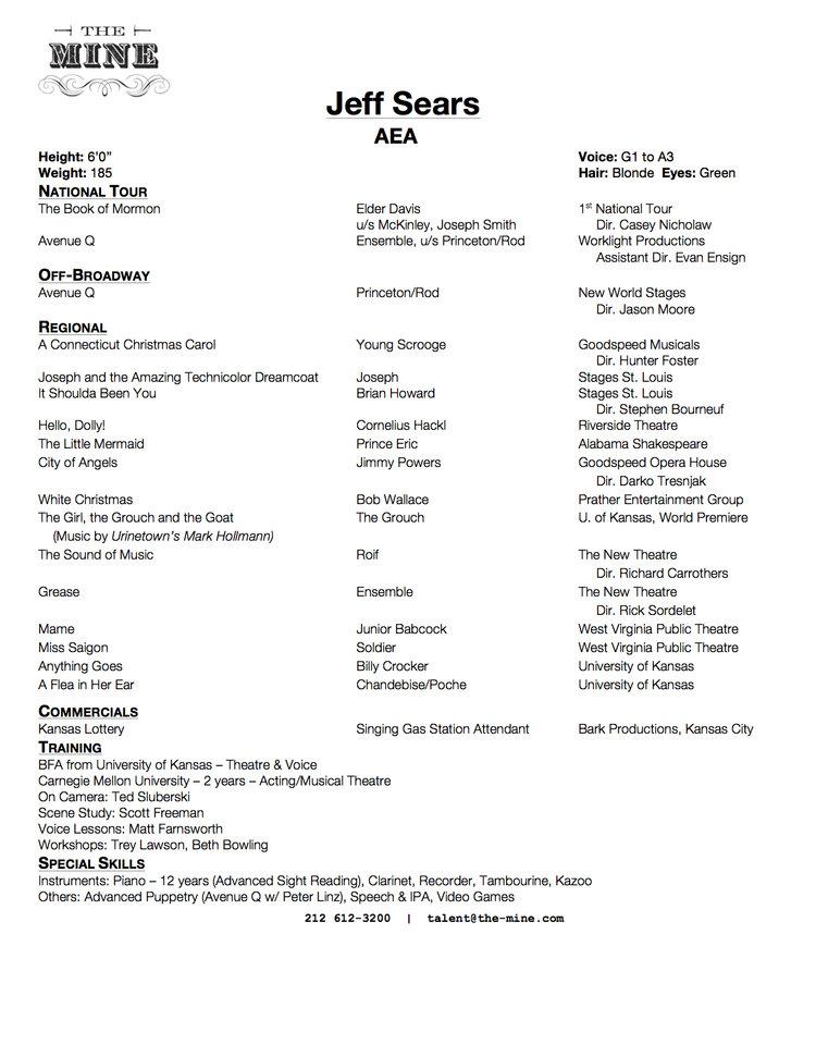 Headshot/Resume — Jeff Sears