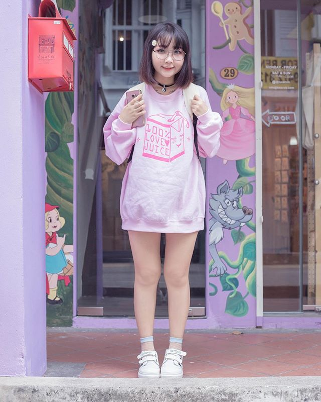 Feeling down for the season? Get one of our sassy sweaters to cheer you up 💖 @fluffy.aoigeki is wearing the 100% LOVE Juice sweater in Large! LIMITED Quantity available!  Click the link in the bio ➡️➡️➡️ Model: @fluffy.aoigeki