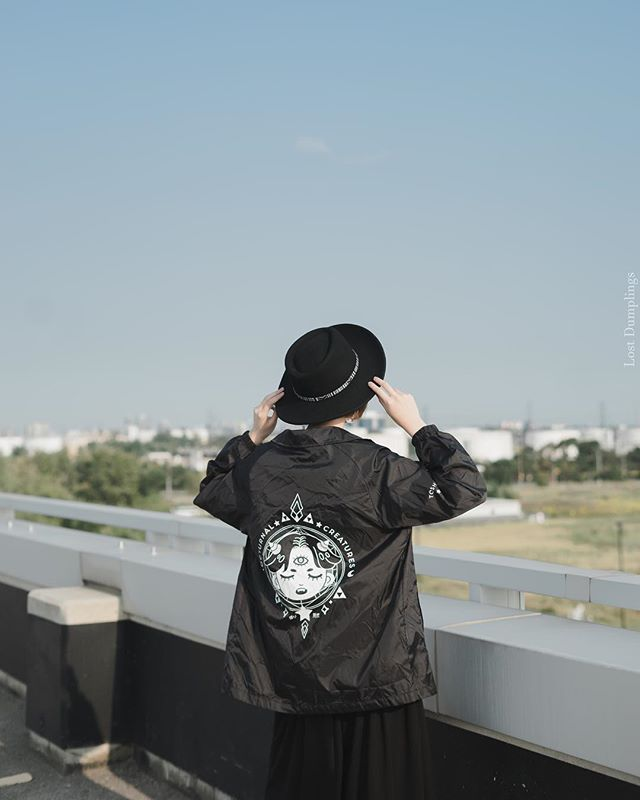 Store UPDATE: for any orders with windbreakers they will come after December 15‼️ Currently windbreakers are in production!  Model: @meowstars  Photo: @lostdumplings