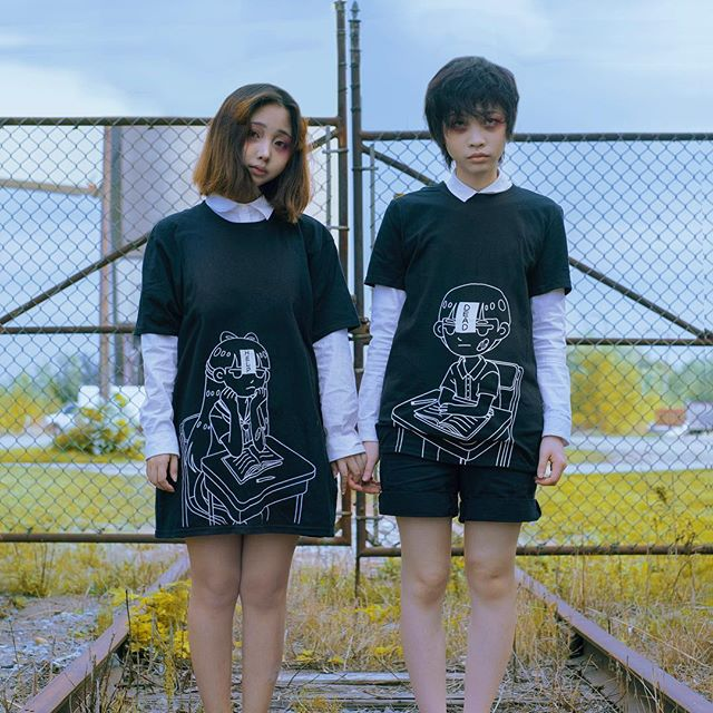 @fluffy.aoigeki and @takumi_kei are wearing our classic Tees: DEADSCHOOL!  We'll be restocking select styles in January‼️🔥 Thank you for your continued Support 💖 Photo: @xxi.xin