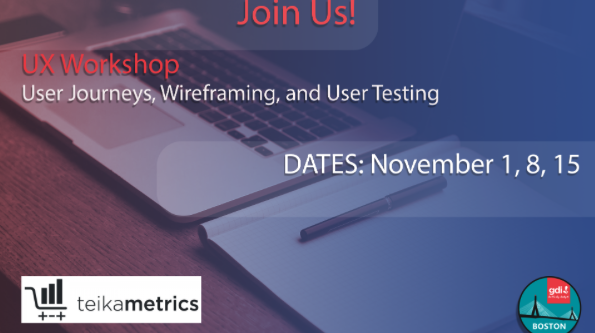 UX Workshop: User Journeys, Wireframing, and User Testing - Learn More ->