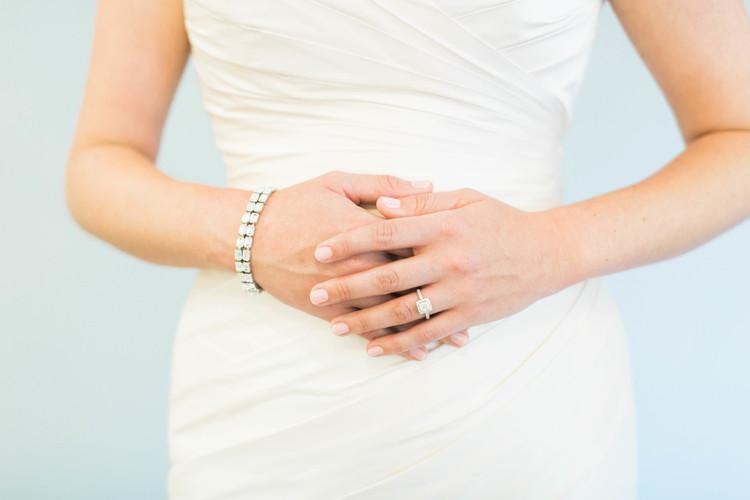 L B Wedding Dress Tip Lace Bustle Bridal