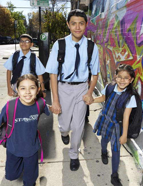 COLLEGE ACHIEVEMENT Chicago Catholic school students have a college enrollment rate of 86% and a graduation rate 2x the national average.