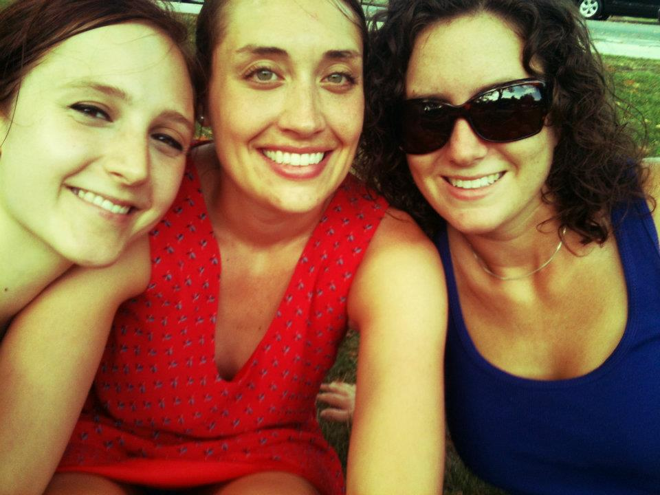Caitlin, Julianne (roomies) and I celebrating the 4th of July in Center City!