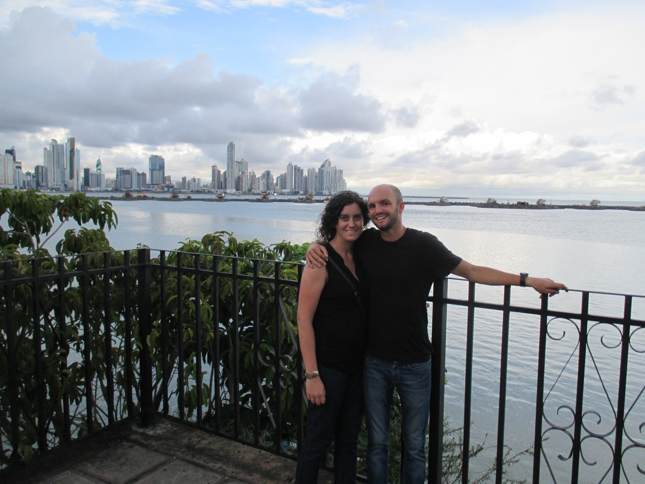 enjoying the skyline in Panama City