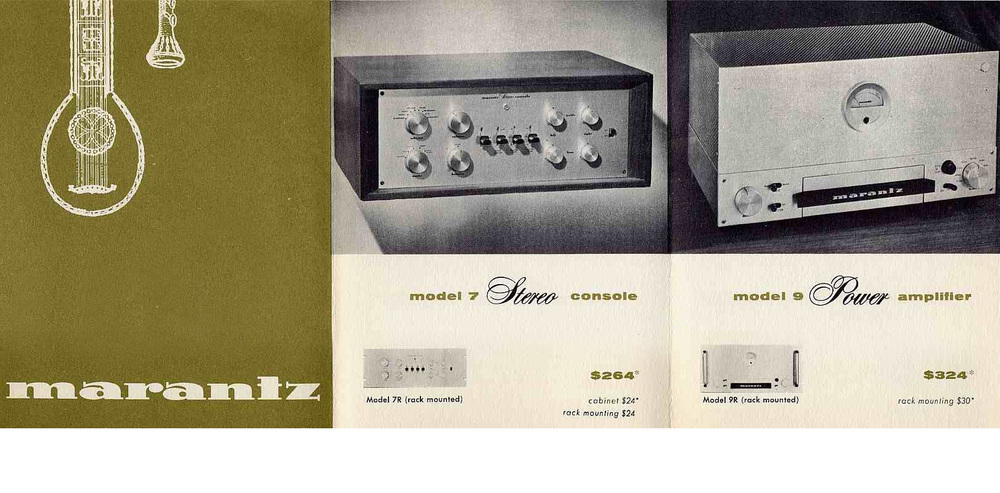 Check out this vintage Marantz magazine ad from the 1960's. The Marantz 7C retailed for $264. 2016 Value: $6000. The Marantz 9 Amplifier retailed $324. 2016 Value: $7,000