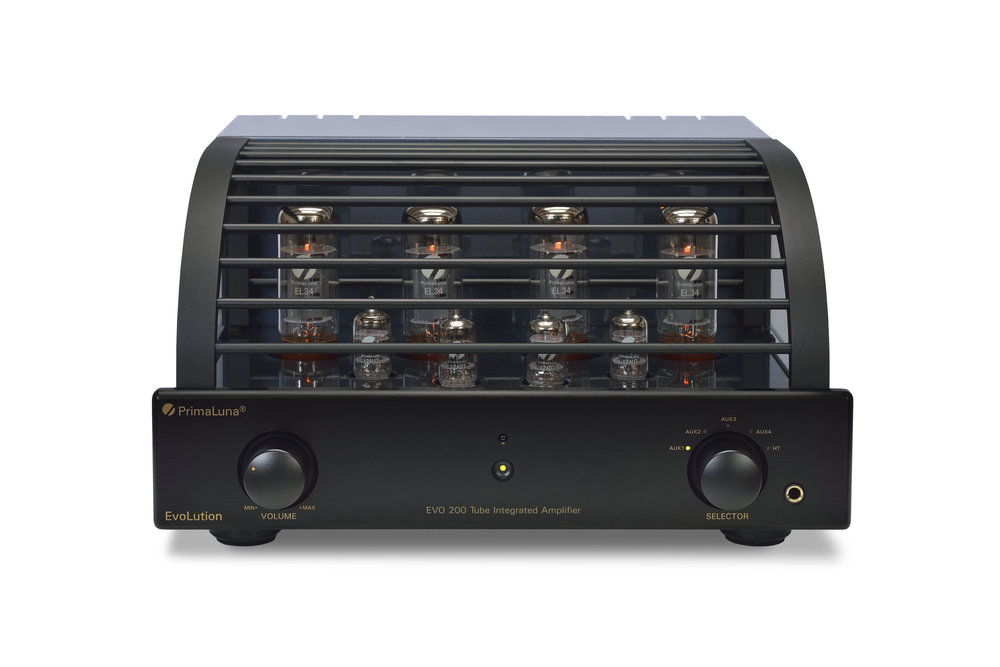 111b - PrimaLuna Evo 200 Tube Integrated Amplifier - black - front - white background.jpg