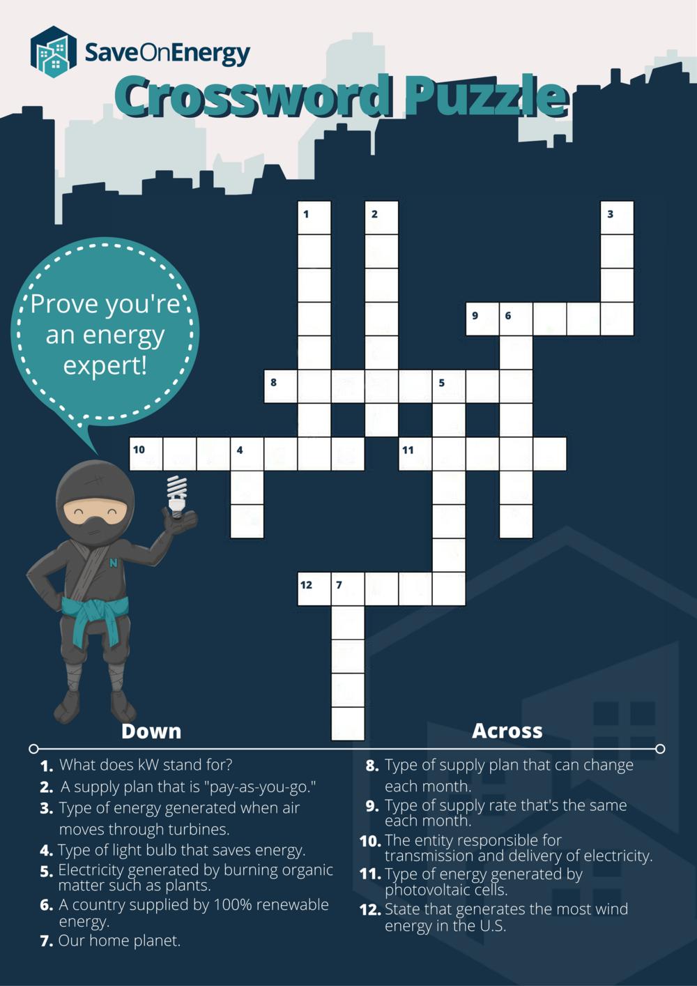 SaveOnEnergy.com Crossword Puzzle