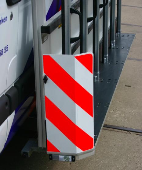 Glasrestelen - waarschuwingsbord zijkant
