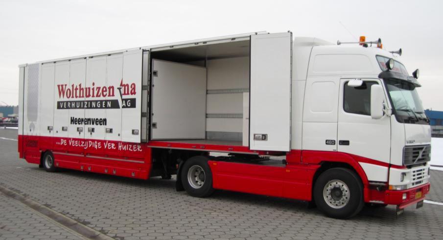Verhuiswagen dubbele laadruimte