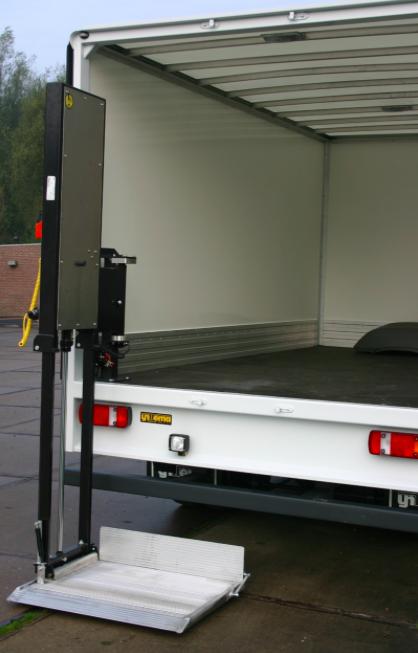 Gesloten carrosserie kleine vrachtwagen
