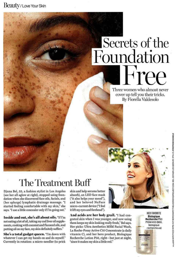 GLAMOUR MAGAZINE : JUNE 2017 : DJUNA BEL THE TREATMENT BUFF