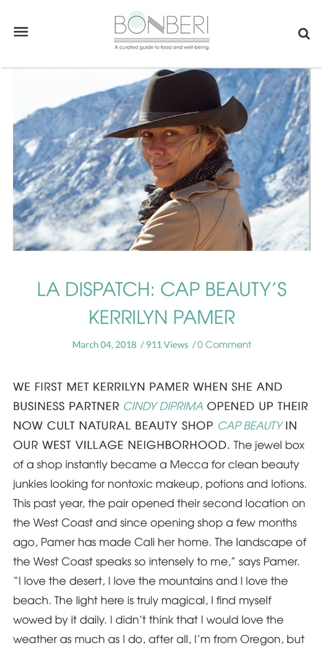 BONBERI: LA DISPATCH: CAP BEAUTY'S KERRILYN PAMER