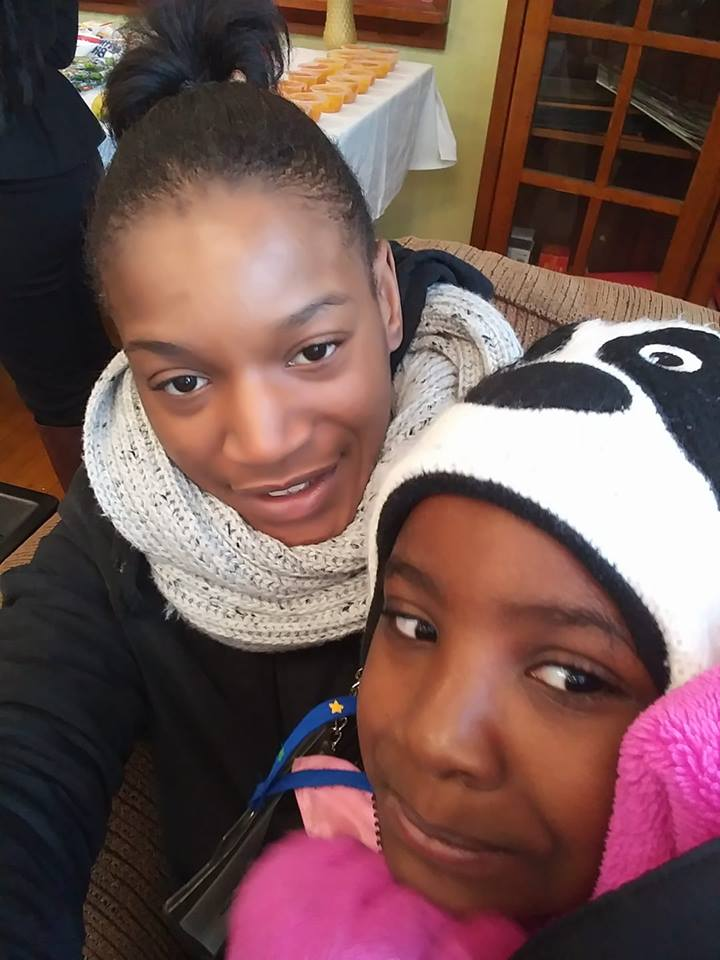 Darnisha and her eldest daughter Aniya