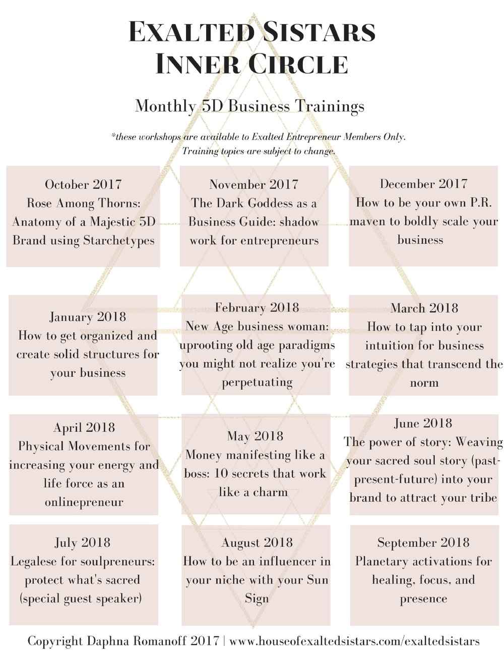 Download the Business Flow trainings schedule