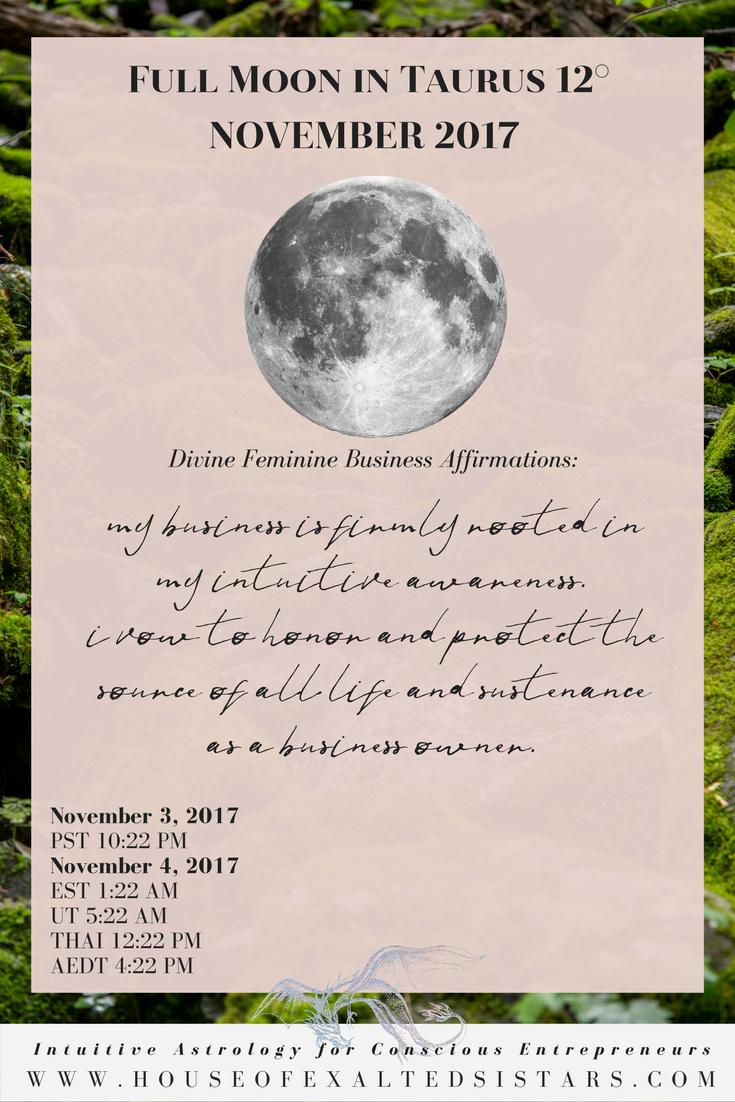 taurus full moon business reading
