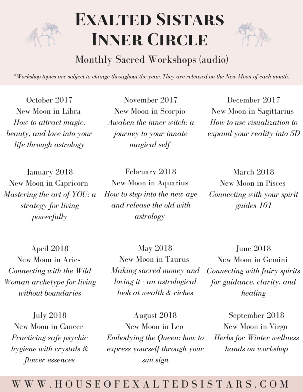 Download the workshop schedule