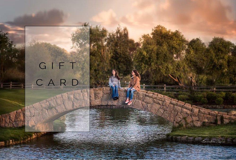 GIFT CARD - Si quieres regalar un curso de fotografía o una sesión de fotos, yo te preparo una linda Gift Card!