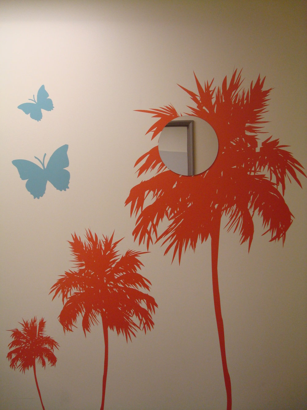 Wall Tattoo Mural by Fine Art Matters for a Children's Hearing Center in LA