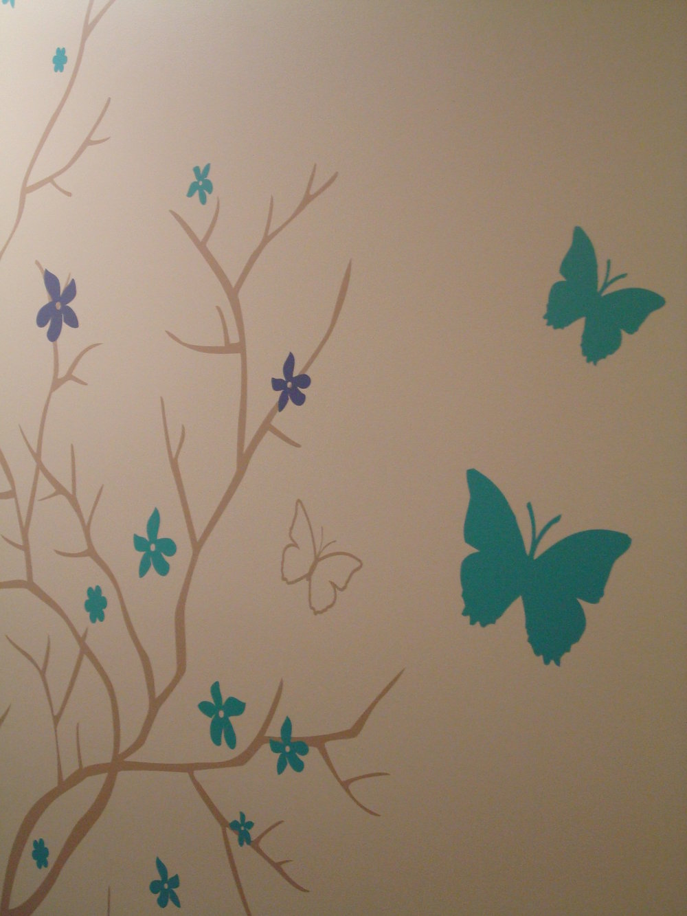 Wall Tattoo Mural Part 2 by Fine Art Matters for a Children's Hearing Center in LA