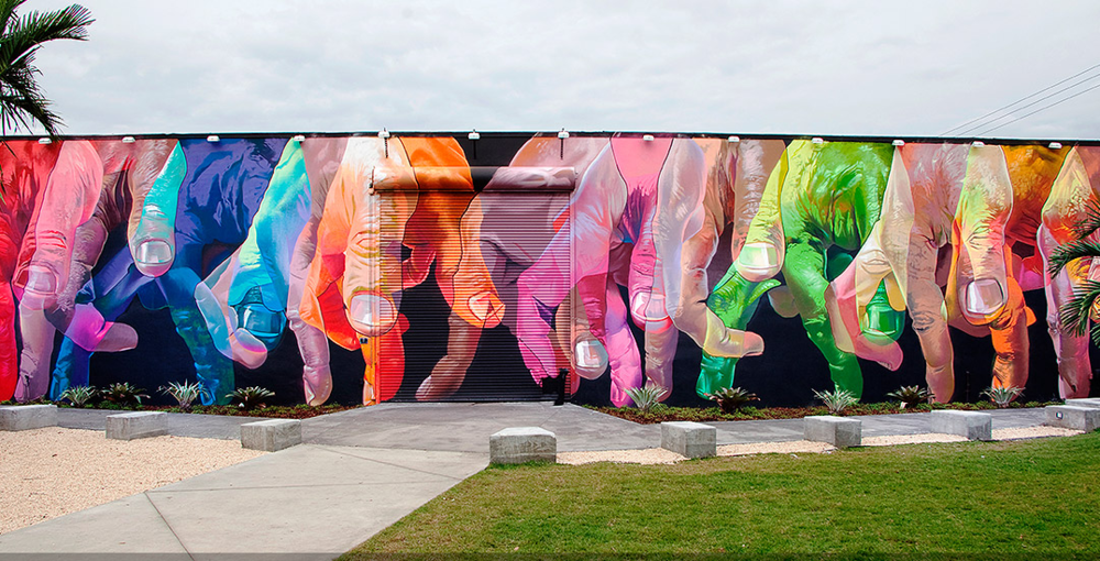 Street Mural by Case for Wynwood Walls in Miami, photo credit @ wynwoodwalls.com
