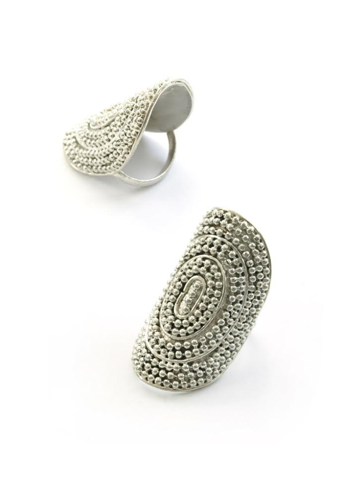 Labrynth silver ring £12