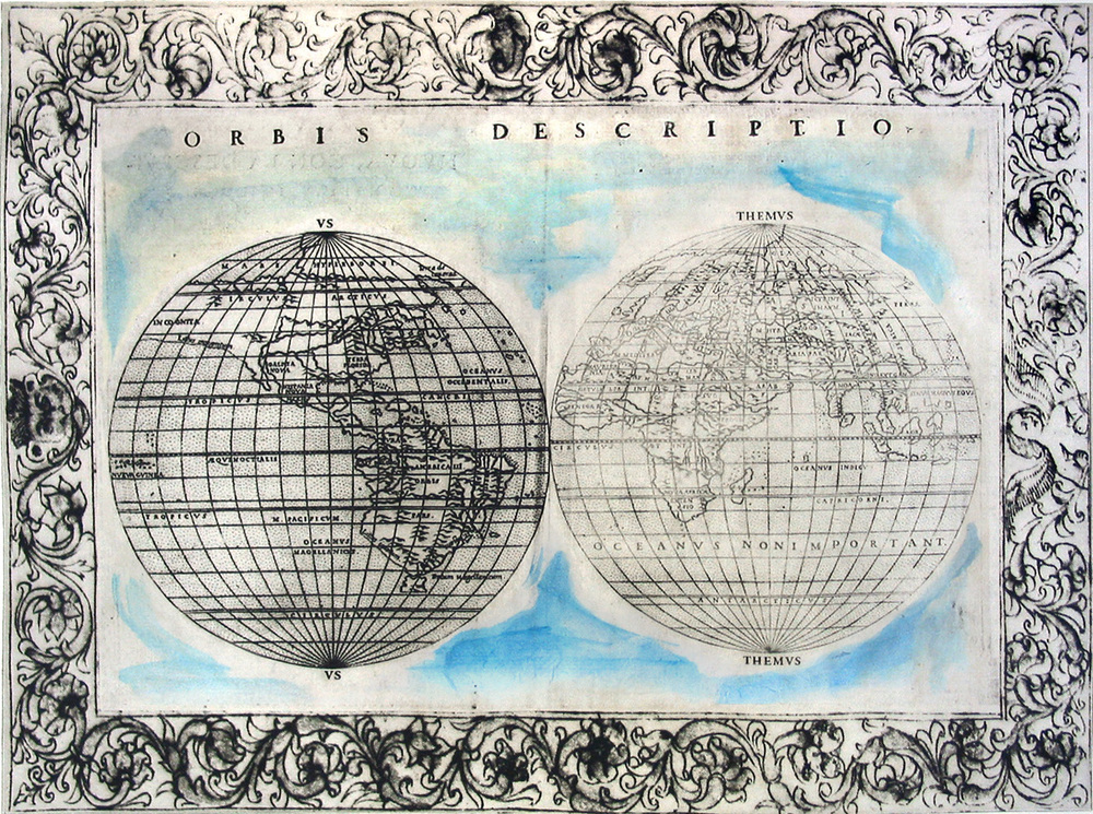 "Their World, too;  monoprinted intaglio; 11 x 15.5""; 2009"