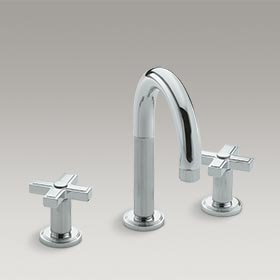 VIR STIL Basin set with cross handles by Laura Kirar P24130-CR-CP
