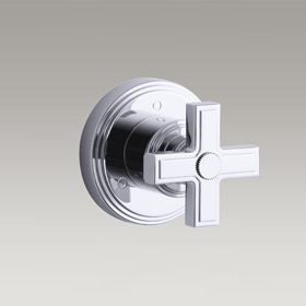 VIR STIL  3-Way transfer valve trim with cross handle by Laura Kirar  P24183-CR-CP