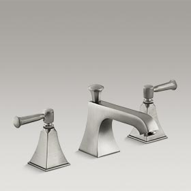 MEMOIRS®  Widespread bathroom sink faucet with level handles  K-454-4S-BN