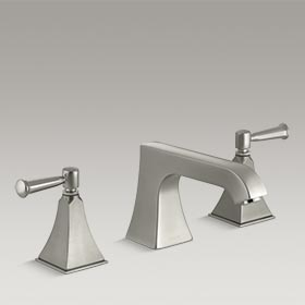 MEMOIRS®  Deck-mount bath faucet trim with non-diverter spout and lever handles  K-T469-4S-BN