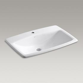 MAN'S LAV™ Drop-in bathroom sink 2885T-1-0
