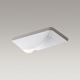 "LADENA®  20-7/8"" X 14-3/8"" X 8-1/8"" under-mount bathroom sink  K-2214-0"