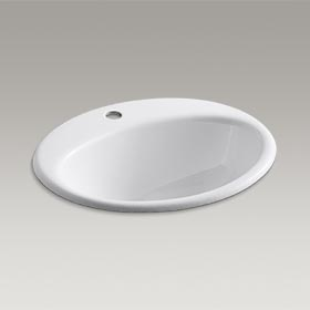 FARMINGTON® Drop-in bathroom sink K-2905-1-0