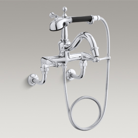 REVIVAL Wall-Mounted Bath Faucet with Handshower K-16210-4A-CP
