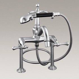 REVIVAL  2-hole floor mount bath/shower mixer with lever handles  16210B-4A-CP
