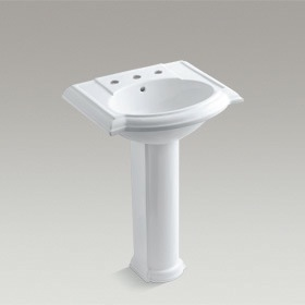 DEVONSHIRE  Washbasin and Pedestal (3 Tap Hole Fitting)  2287W-8
