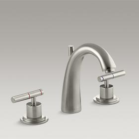 TABORET® Widespread bathroom sink faucet with high arch spout K-8215-K-BN 16070-4-BN