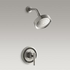 TABORET® Rite-Temp® pressure-balancing shower faucet trim with lever handle K-T8226-4-BN