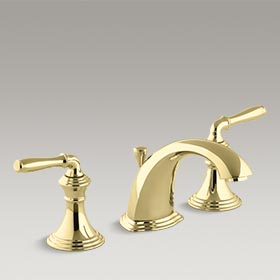 DEVONSHIRE®  Widespread bathroom sink faucet  K-394-4-PB
