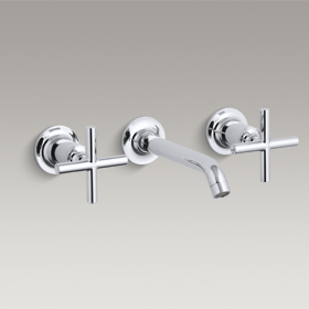 PURIST  Wall-Mount Lavatory Faucet  K-T14413-3-CP
