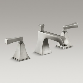 MEMOIRS® Widespread Basin Set, Brushed Nickel K-454-4V-BN