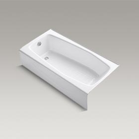 "VILLAGER  60"" x 31"" alcove bath with integral apron and left-hand drain  K-715-0"