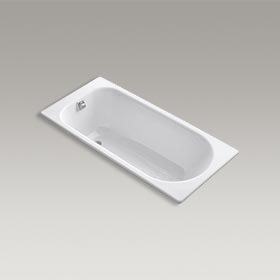 "SOISSONS®  59"" x 28"" drop-in bath with reversible drain  K-941-0"