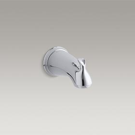 "FORTE® Diverter bath spout with sculpted lever handles and 1/2"" NPT connection K-10280-4-CP"