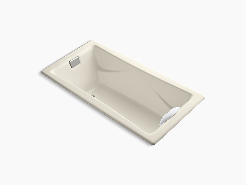 """TEA-FOR-TWO  72"""" x 36"""" drop-in bath with reversible drain  K-863-47"""