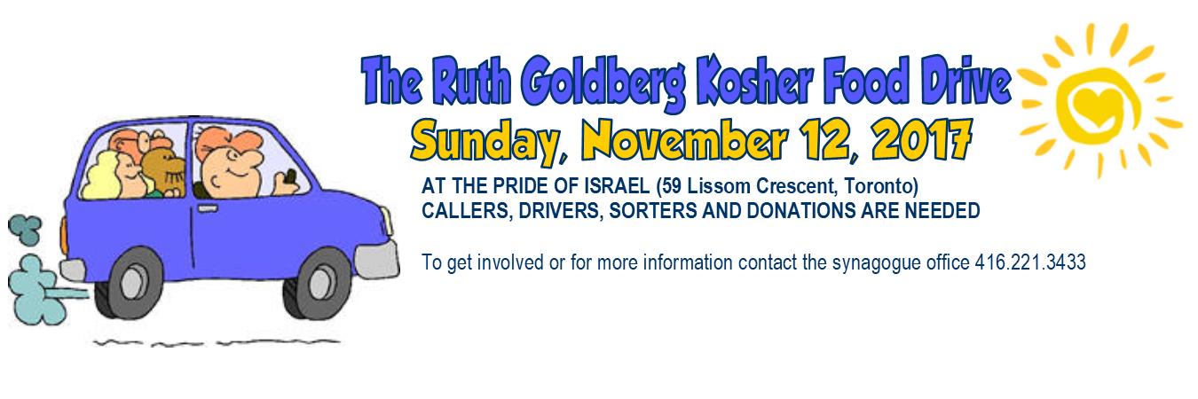 Ruth Goldberg Kosher Food Drive Beth Tikvah Synagogue