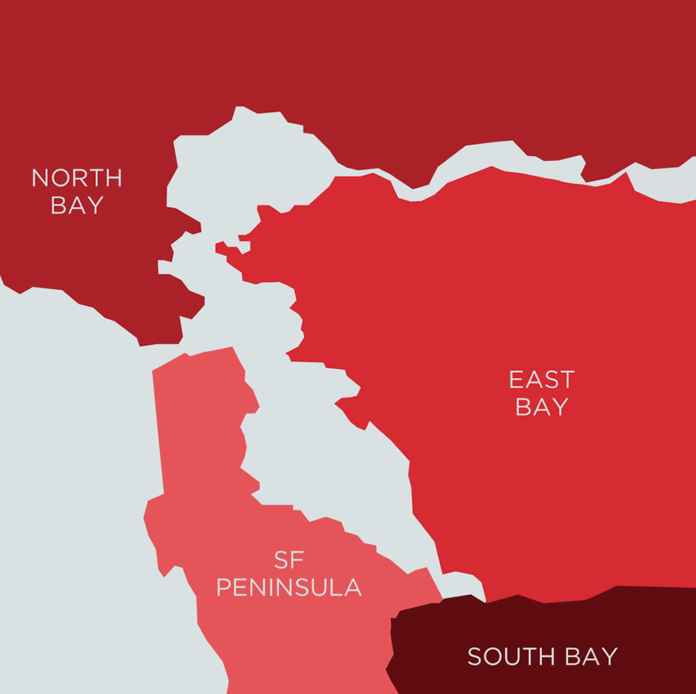 We cover the entire Northern California Bay Area from St. Helena to San Jose, Dixon to Livermore