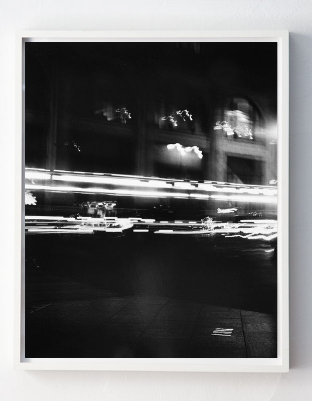 """Corner of 34th Street and 5th Avenue, facing North, 9:06pm,"" NYC"